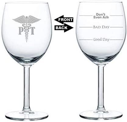 Amazon.com: 10 oz Wine Glass Funny Good Day Bad Day Don t ...