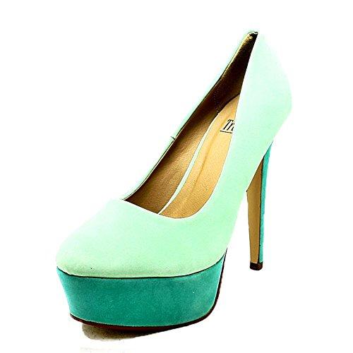 Dos señoras de la plataforma Tone Zapatos de tacón alto talón Blue