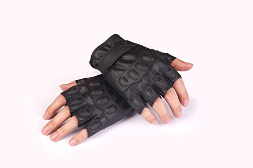 PU Leather Half Finger Driving Fitness Motorcycle Cycling Gloves Tactical Gloves by Zhiyuan