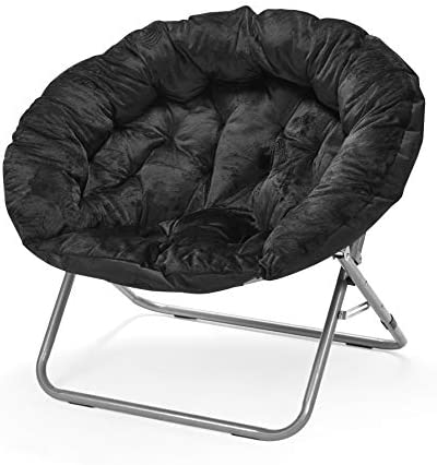 Urban Shop Oversized Micromink Moon Saucer Chair