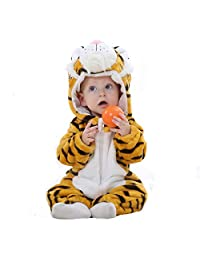 Autumn and Winter Flannel Baby Warm Long-Sleeved European and American Romper, Children's Bathrobe, Animal Shape