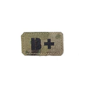 B Positive B+ Blood Type Patch Laser Cut Military Tactical Morale Velcro