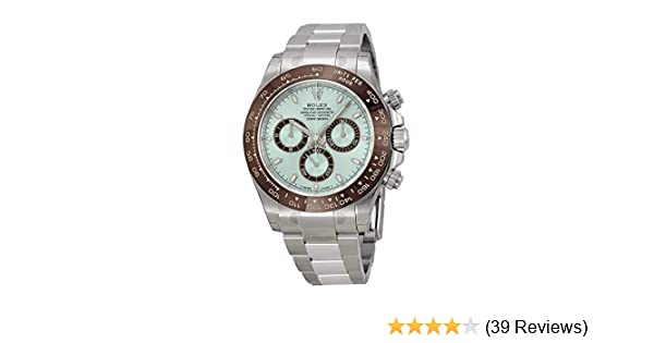 10a1146a8eb Amazon.com: Rolex Cosmograph Daytona Ice Blue Dial Platinum Mens Watch  116506IBLSO: Watches