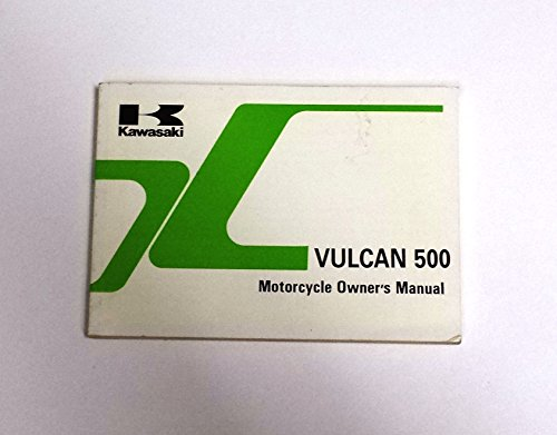 Kawasaki 1995 Vulcan 500 Motorcycle Owners Manual EN500-A6 (Kawasaki En500 Manual)