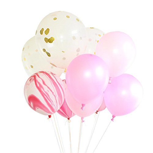 "YJYdada 20PC 12"" Gold Foil Balloon Set Helium Confetti Birthday Wedding Party Love Decor (Helium Balloons Nyc)"