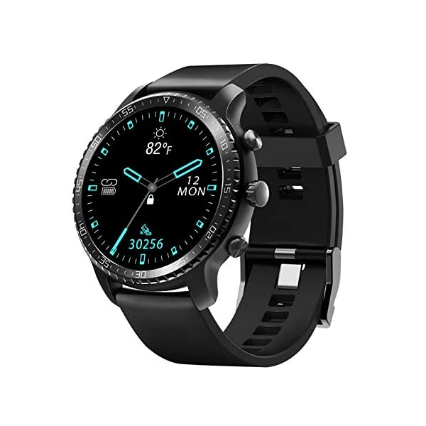 Tinwoo-Smart-Watch-for-Android-iOS-Phones-Support-Wireless-Charging-Bluetooth-Health-Tracker-with-Heart-Rate-Monitor-Digital-Smartwatch-for-Women-Men-5ATM-Waterproof-TPU-Band-Black