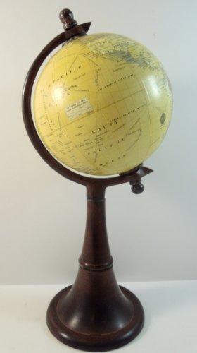 15.5 Inch Tall Sepia World Globe with Dark Bronze ()