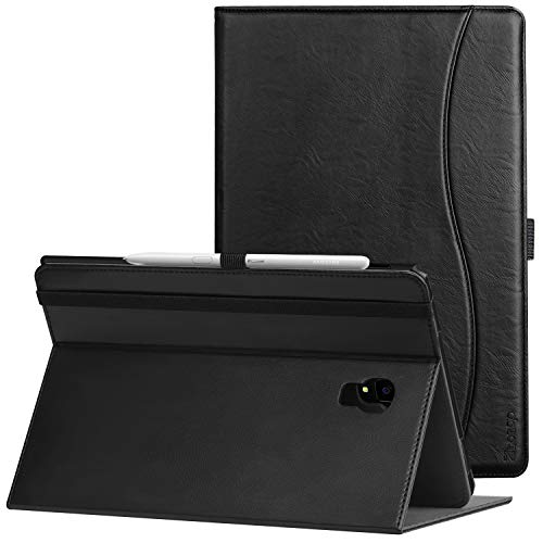 Ztotop Folio Case for Samsung Galaxy Tab S4 10.5 Inch 2018(SM-T830/T835/T837), Leather Folding Stand Cover with Auto Wake/Sleep, S Pen Holder and Multiple Viewing Angles,Black (Best Cover For Samsung S4)