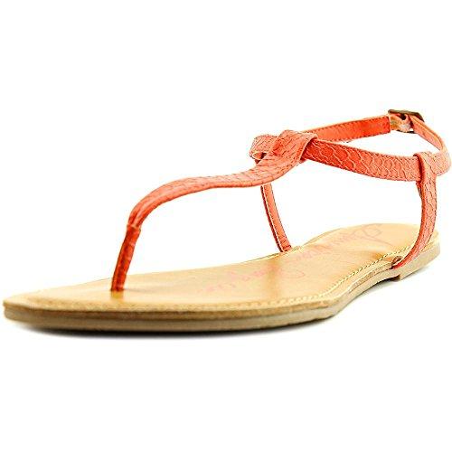 American Rag Womens Krista Round Toe Casual T-Strap Sandals Coral