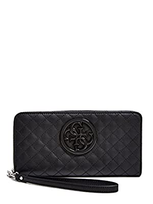 GUESS G-Lux Large Zip Around - black Multi Wallet
