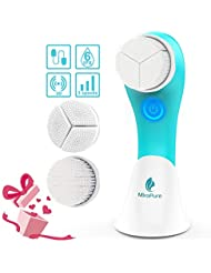 MiroPure Sonic Rechargeable Facial Brush, 3D Brush Heads Design,Vibration Waterproof USB Electric Massager,3 Brush Heads and 3 Settings,Deep Cleansing,Gently Exfoliate and Remove Blackhead