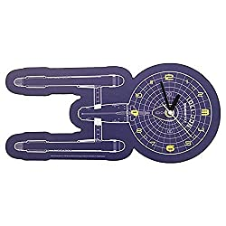 Vandor Star Trek Shaped Deco Wall Clock (80289)