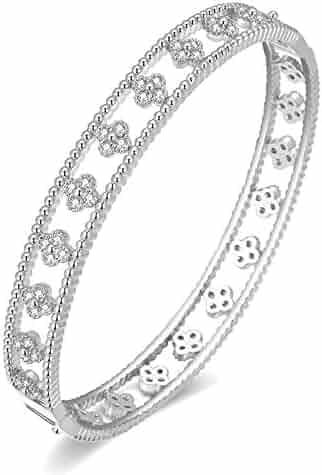 SjSilver Jewels 14K Gold Plated Simulated Diamond Studded Designer Hoop Earrings