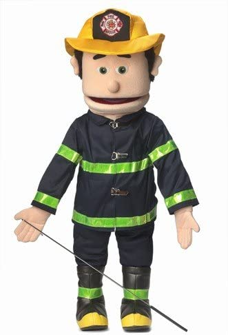 "25"" Fireman, Peach Male, Full Body, Ventriloquist Style Puppet"