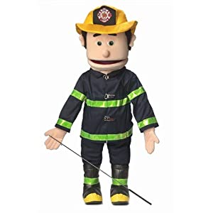 "25"" Fireman, Peach Male, Full Body, Ventriloquist Style Puppet - 41c7G 2BXqMXL - 25″ Fireman, Peach Male, Full Body, Ventriloquist Style Puppet"