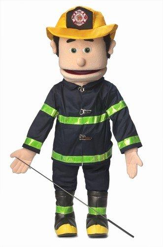 "25"" Fireman, Peach Male, Full Body, Ventriloquist Style Puppet - 41c7G 2BXqMXL - 25″ Fireman, Peach Male, Full Body, Ventriloquist Style Puppet"