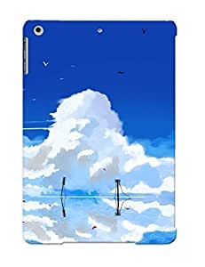 Ellent Design Water Abstract Blue Clouds Landscapes Vocaloid Hatsune Miku Fantasy Art Twintails Anime Run Reflections Anime Girls Blue Skies Phone Case For Ipad Air Premium Tpu Case For Thanksgiving Day's Gift