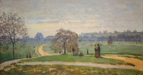 Artisoo Hyde Park - Size: 30 x 16 inches - Impressionism Oil painting reproduction - Claude Monet