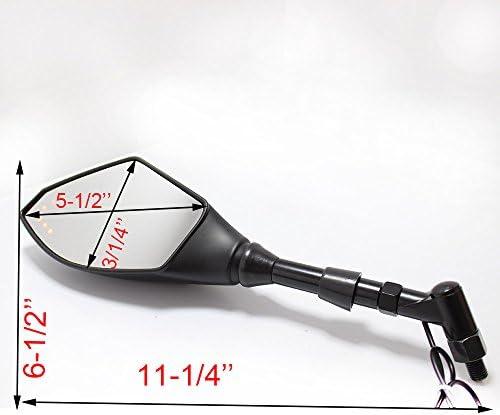 8mm/10mm オートバイ 統合LEDライト ウィンカー サイドミラー ホンダ ヤマハ カワサキ スズキ