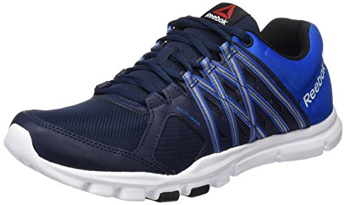 Reebok Yourflex Train 8.0 Zapatillas de deporte, Hombre Azul / Blanco / Negro (Collegiate Navy/Blue Sport/White/Black)