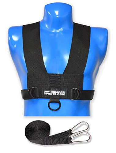 ComCor Minimalist Sled Harness and 9 Pull Strap - Made in USA
