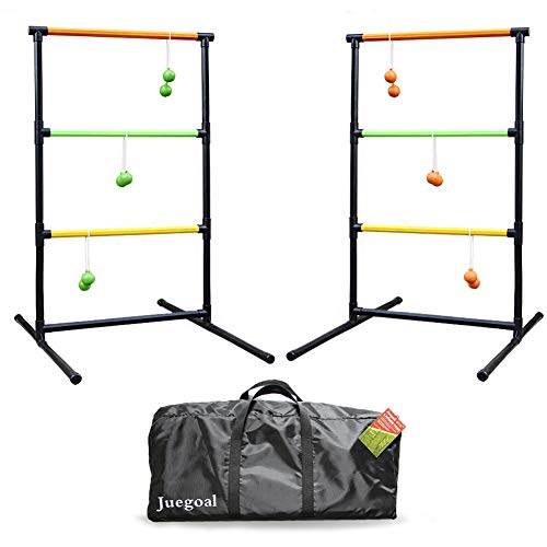 Juegoal Upgrade Ladder Toss Game Set Ladder Ball Game with 6 Bolas