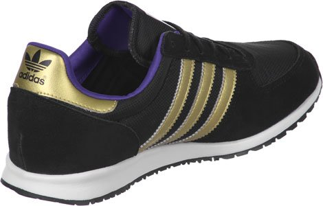 Adidas Adilette - Zapatillas de estar por casa para mujer core black-gold metallic-night flash