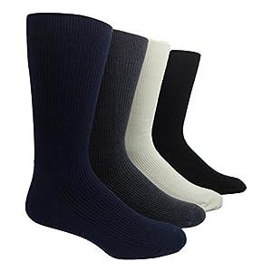 "Men's Cashmere ""non-binding"" Casual Socks (Black)"