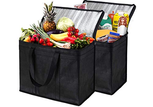 NZ Home 2 Pack Insulated Reusable Grocery Bags