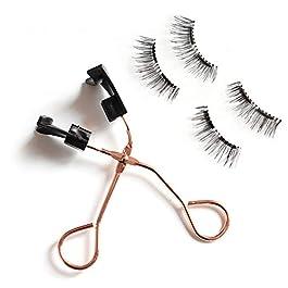 1 Set Magnetic Eyelashes&Clip Set Natural Long Wispies Eyelashes Handmade Glue-free Reusable Eyelashes Makeup(04 Set)