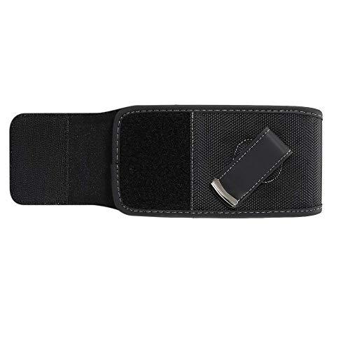 DFV mobile - Nuevo Estilo Funda Nylon para Cinturon con Clip Giratorio for => LG Kite > Negra