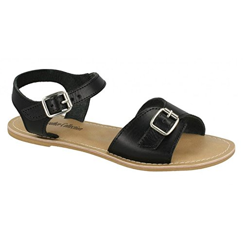 Tan Strap Leather Leather Ladies Womens Collection Buckle Sandals xICYqRCw
