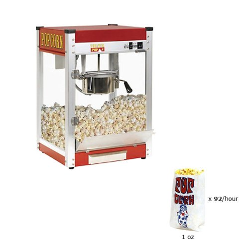 Paragon Theater Pop 4 Ounce Popcorn Machine for Professional Concessionaires Requiring Commercial Quality High Output Popcorn Equipment by Paragon - Manufactured Fun
