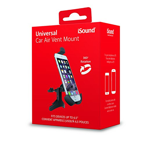 ISound- Universal Car Air Vent Mount for Smart Phones or GPS – Simple and Easy to Mount and to Remove by iSound (Image #1)