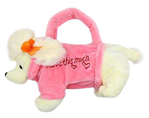 Aimeio Creative Plush Animal Handbag Kids Catoon Toy Bag Girl Crossbody Bag School Pencil Bag,Poodle by Aimeio