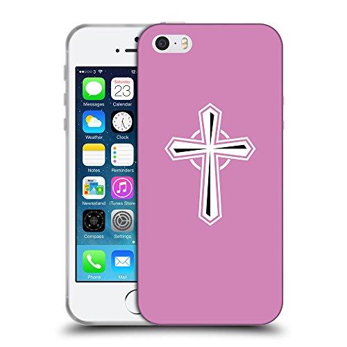 GoGoMobile Coque de Protection TPU Silicone Case pour // Q09450618 Croix chrétienne 55 Bronze // Apple iPhone 5 5S 5G SE