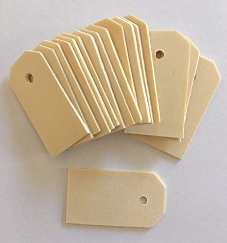 Lynmmax Wood Gift Tags/ Blank Wooden Tags for Wine, Decor, Weddings (pkg of ()