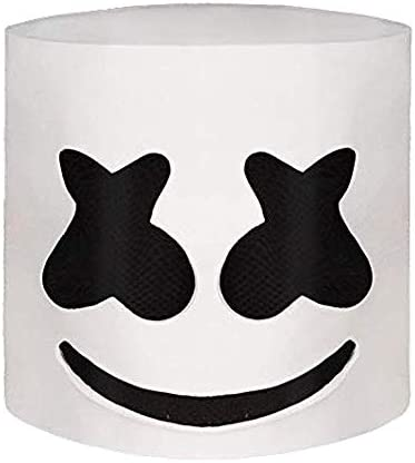JaCos Led DJ Marshmello Mask with Colorfull Light,Music Festival Full Head DJ Mask Latex