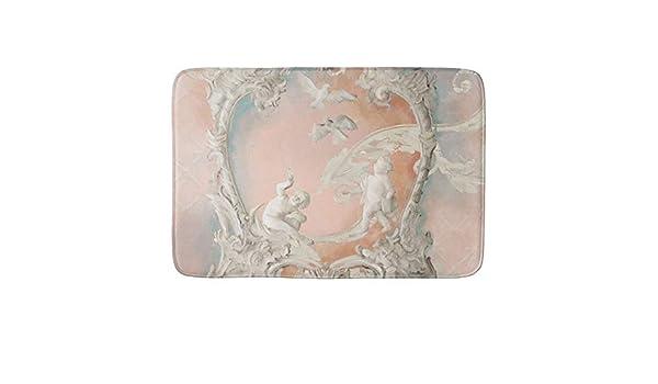 Traditional Rococo Baroque Angel Cherubs Vintage Bathroom Mat Machine-Washable Floor Mats for Bathroom 16x24 Inch Bath Mat