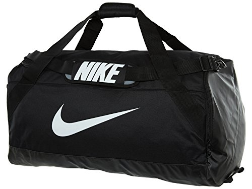 NIKE Brasilia Training Duffel Bag, Black/Black/White, Large - Nike Bags College