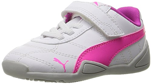 PUMA Kids' Tune Cat 3 V Inf Sneaker, White-Knockout Pink, 5 M US Toddler