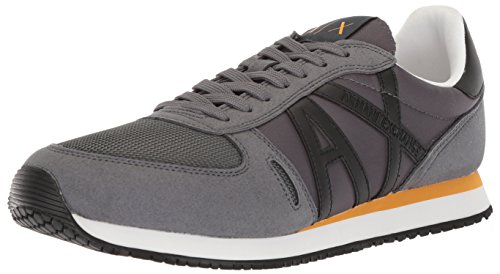 Armani A Running Sneaker X Exchange Men Fashion Grey Retro 51SxOqzw1