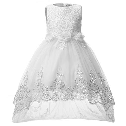 Summer Baby Girl Dress Princess Solid Lace Wedding