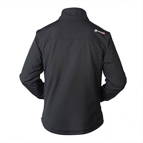 VentureHeat Men's Escape USB Battery Heated Softshell Jacket (Black,X-Large) by Venture Heat (Image #2)