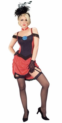 Deluxe Red Moulin Rouge Show Girl Costume