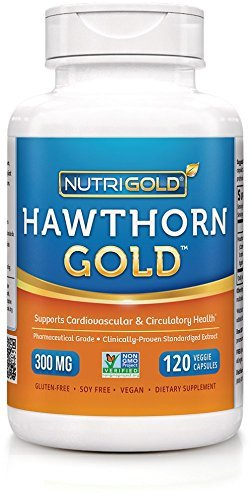 Nutrigold Hawthorn Gold (European Pharma Grade) (Clinically-proven), 300 mg, 120 veg. capsules by - Hawthorn Shopping Mall