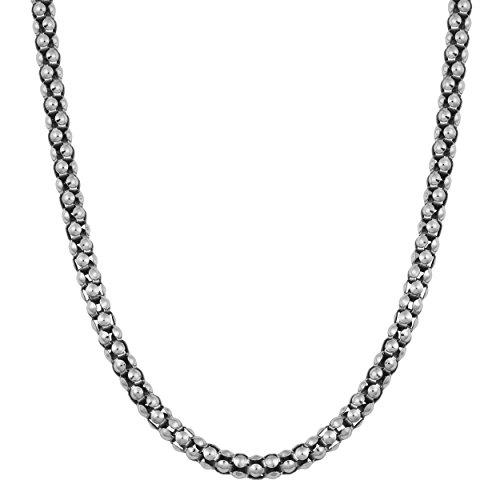 Oxidized Sterling Silver 3mm Coreana Chain (24 inch)
