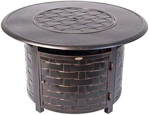 Fire Sense Armstrong Round Aluminum LPG Fire Pit Table