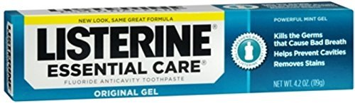 Listerine Essential Care Toothpaste, Powerful Mint Gel, 4...
