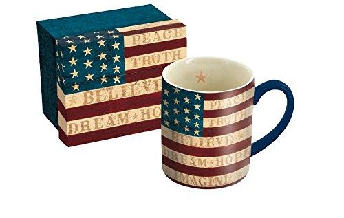 Lang Colonial Flag Mug by Warren Kimble, 14 oz, Multicolored